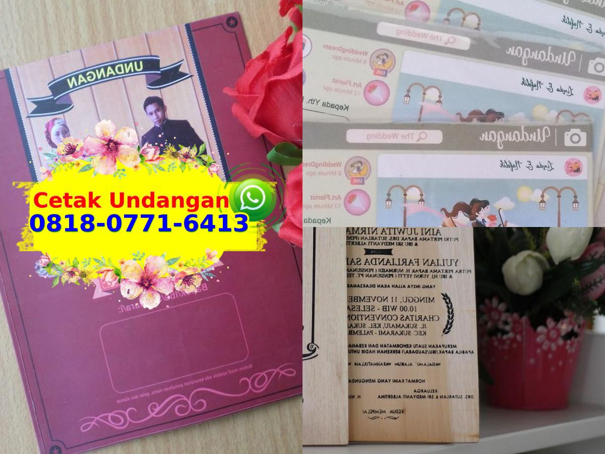 Contoh Undangan Pernikahan File Cdr O818 O771 6413 Wa By Harga Supplierjual Medium