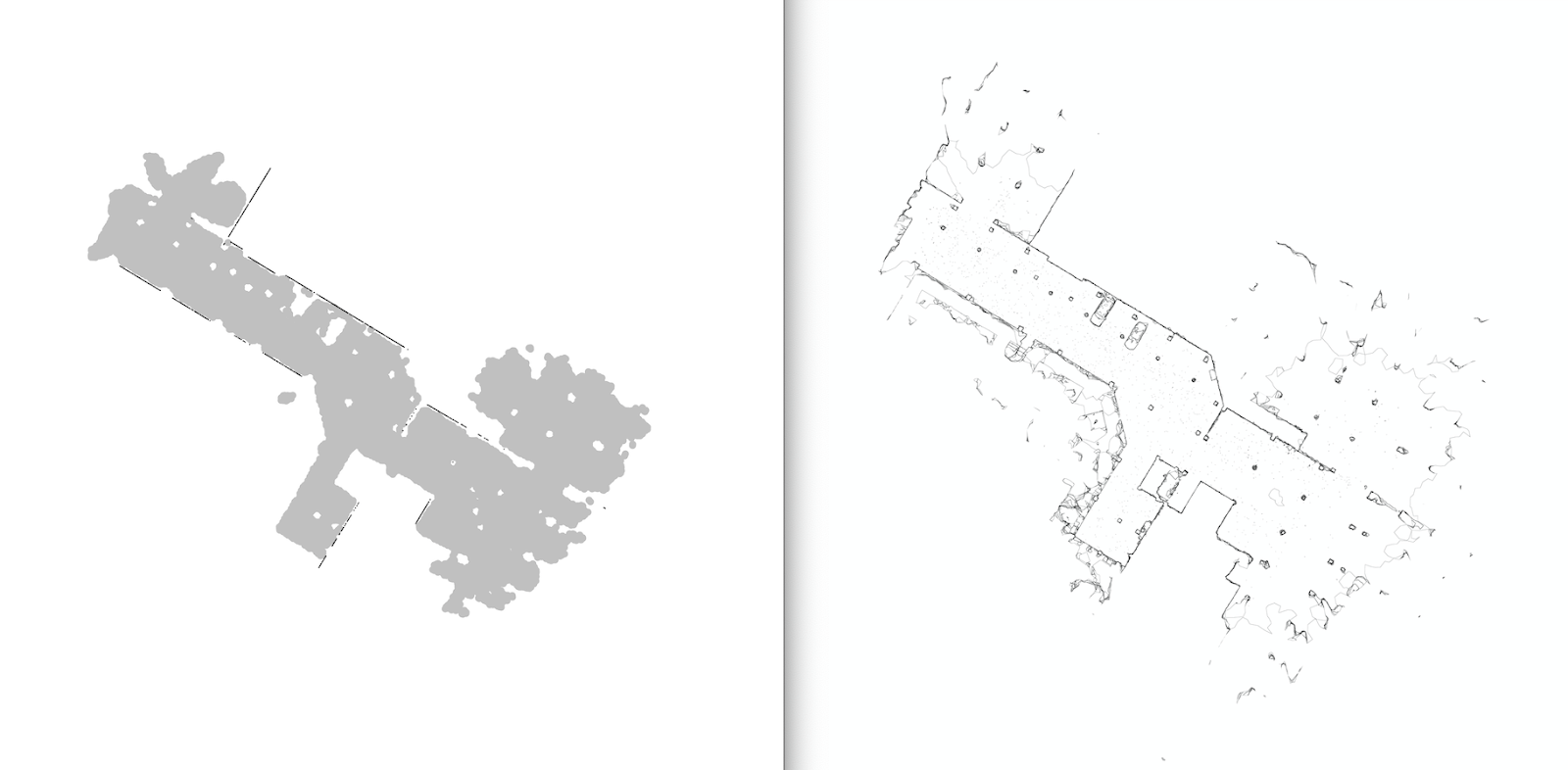 """Simplified """"as-built"""" drawing views of a map"""