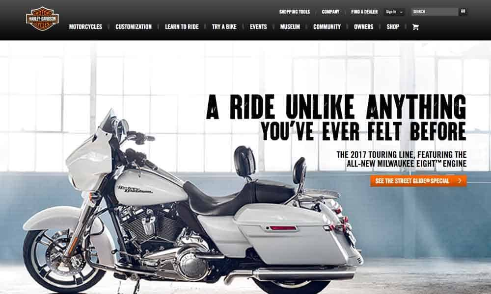 harley-davidson-website-design