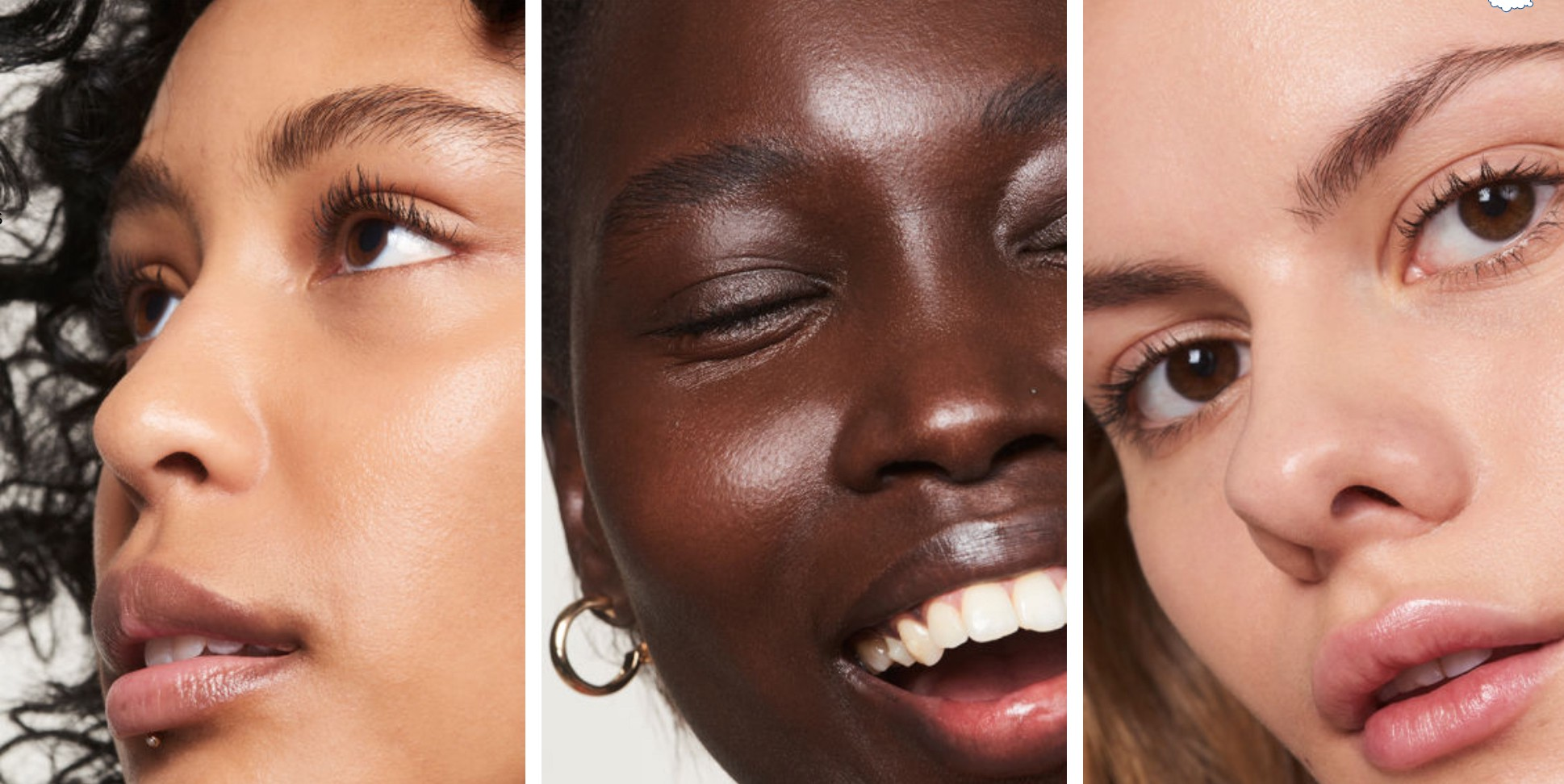 Collage of Glossier models