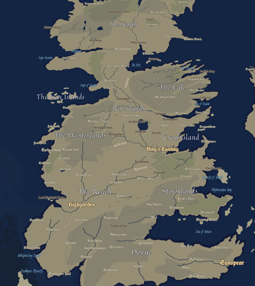 Design your own Game of Thrones-inspired map - Points of interest on