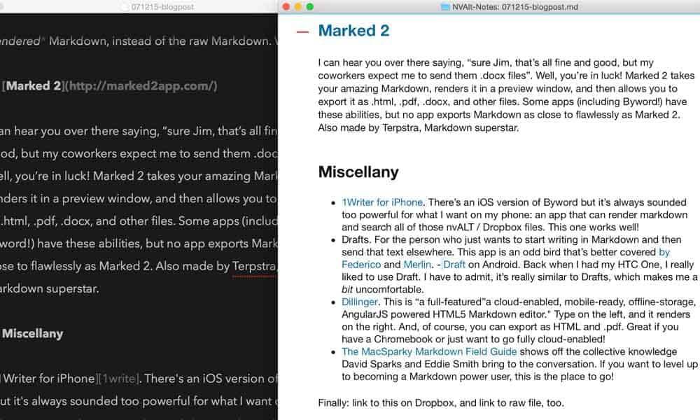 marked-2-writing-app