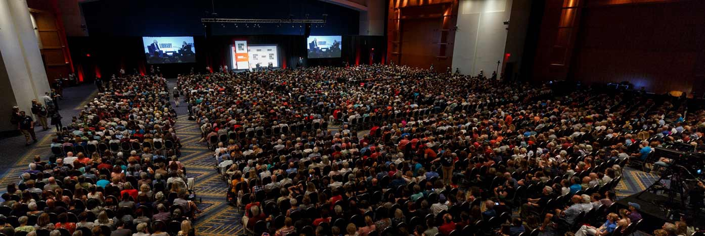 Main Stage audience at 2018 National Book Festival