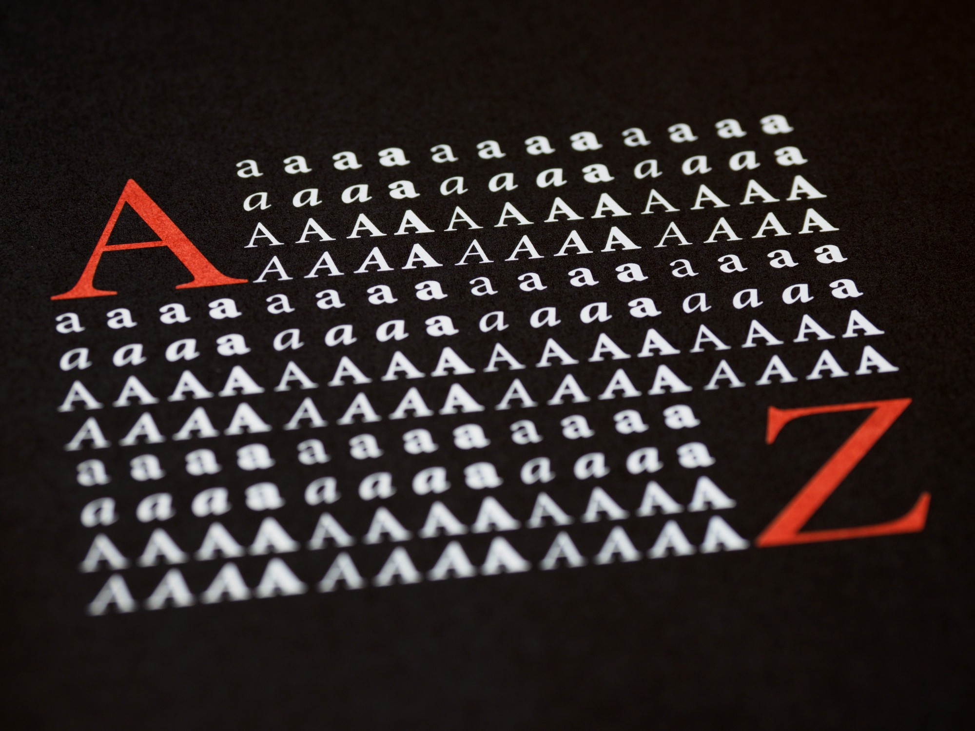Different A-Z fonts