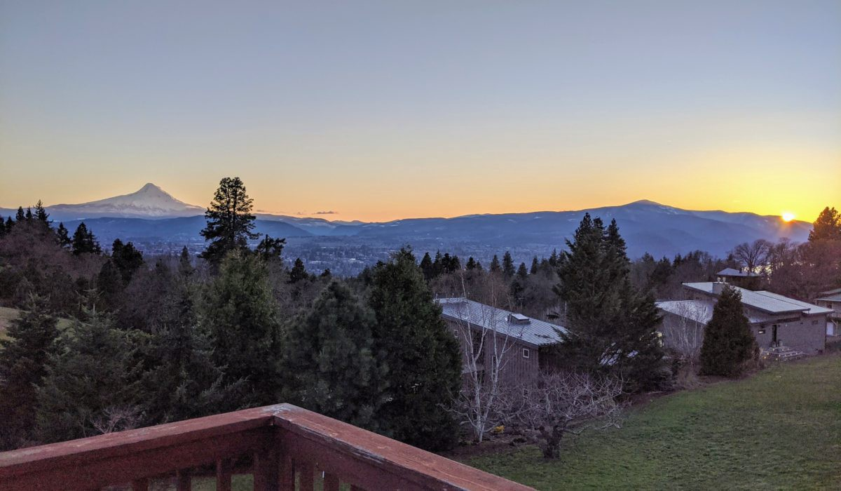 View of Mount Hood at Sunset