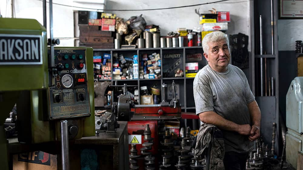 Small Business Owner—Mechanic in a Garage
