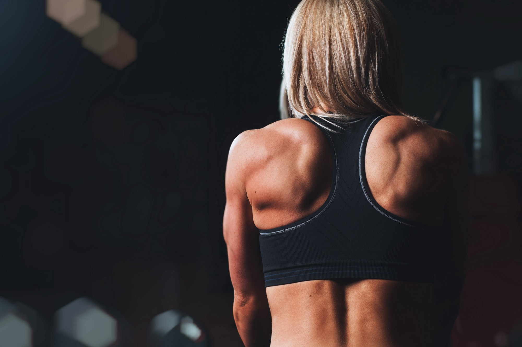 A woman with a strong back