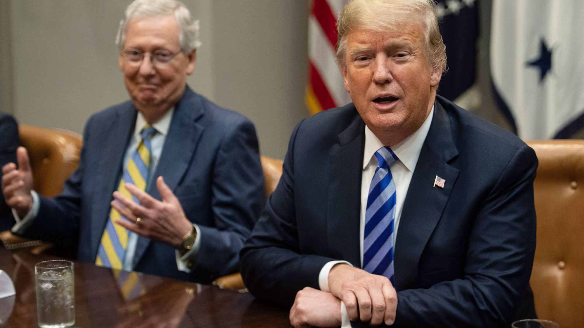 """McConnell says """"he'd 'absolutely' support Trump if he's the 2024 GOP presidential nominee."""" Source: https://ktla.com/news/politics/mcconnell-says-he-would-absolutely-support-trump-if-hes-the-2024-gop-presidential-nominee/"""