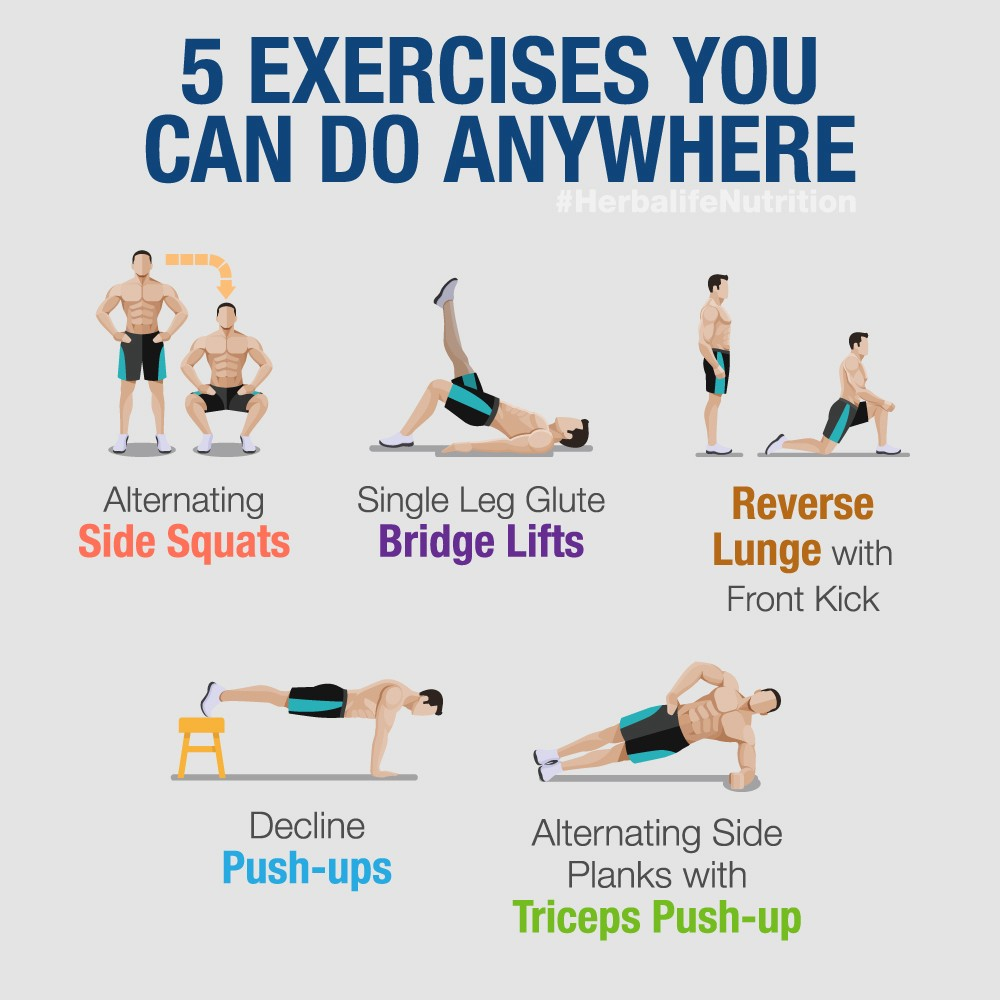 5 Best Workouts to Try at Home. When you exercise, you enhance your… | by Herbalife Nutrition | Herbalife Nutrition | Medium