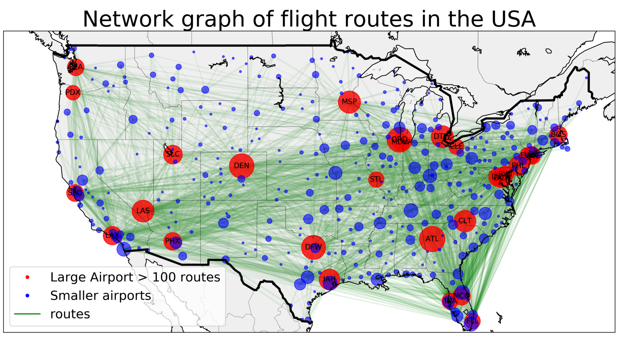 Catching that flight: Visualizing social network with Networkx and