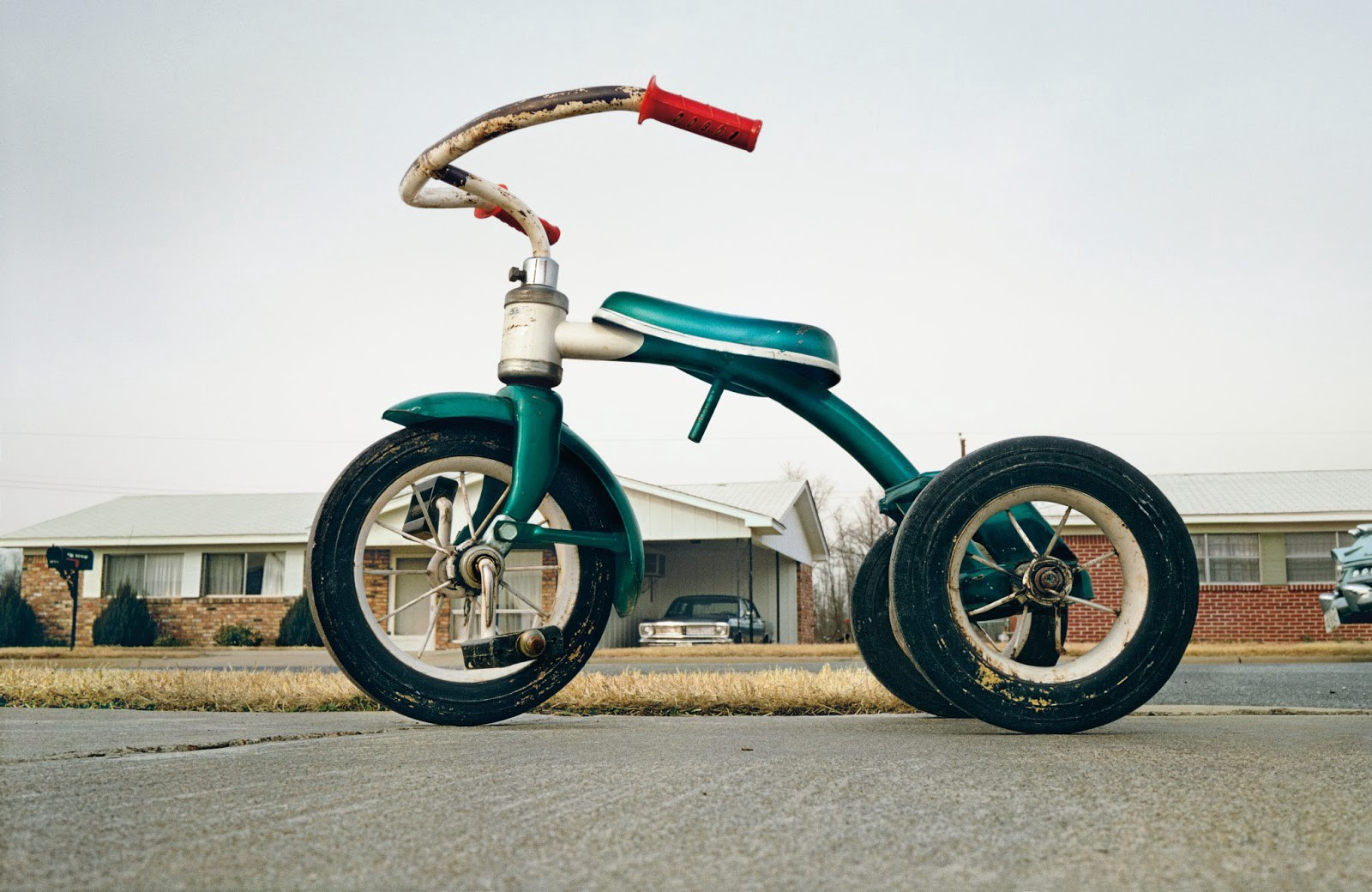 William Eggleston's famous tricycle picture, an example of everyday photography.