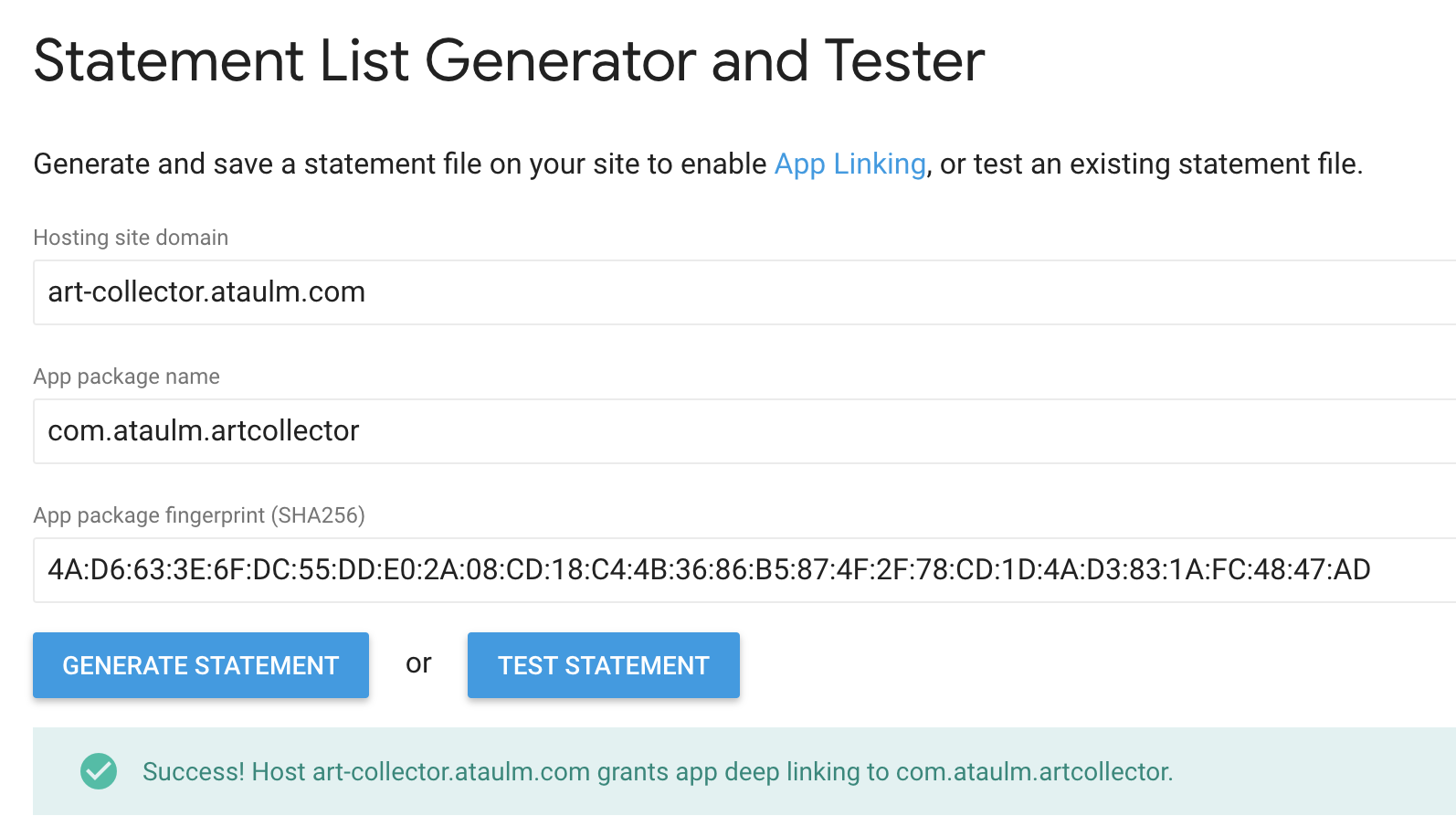 art-collector: learning about android app links - ProAndroidDev
