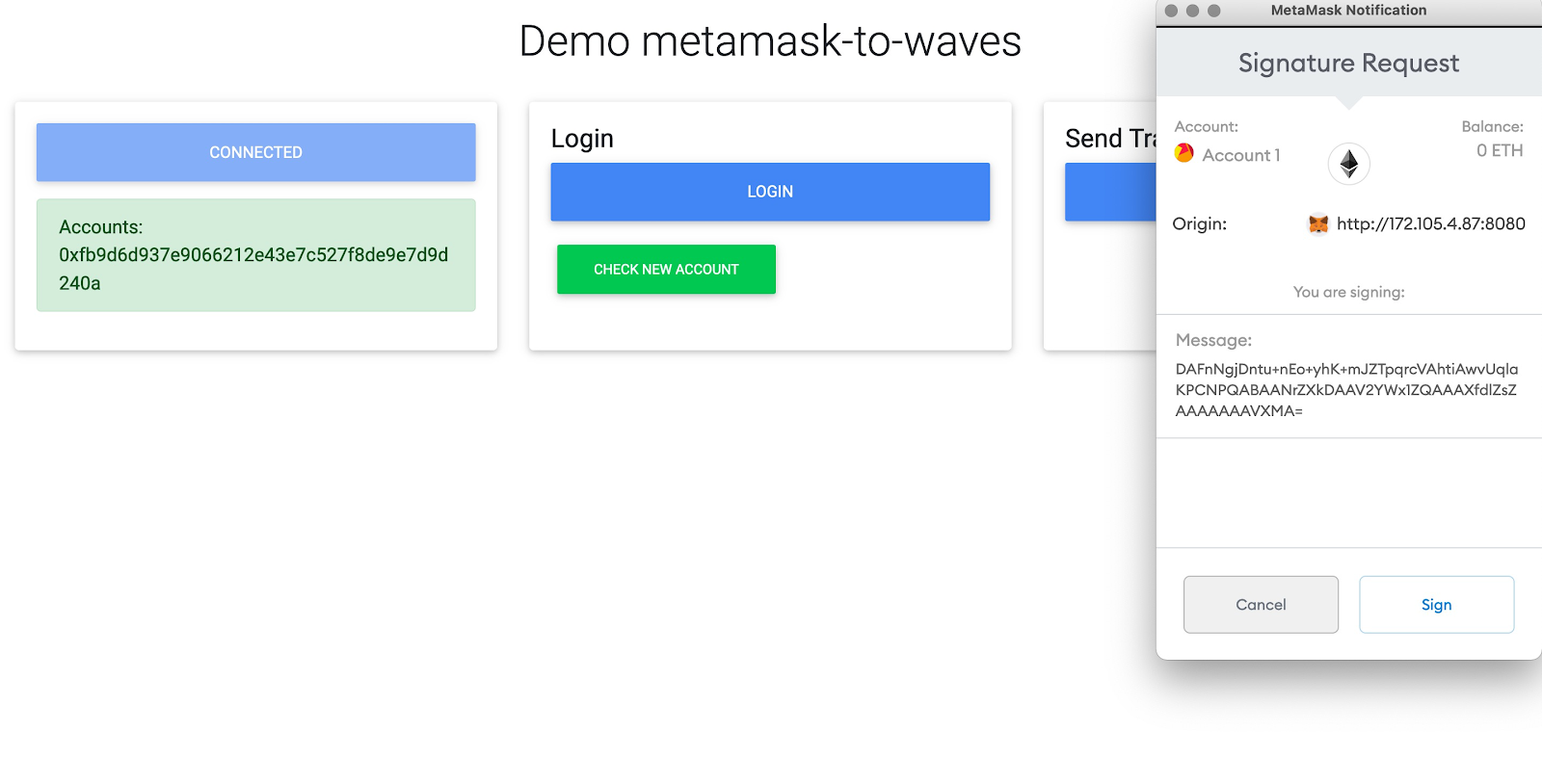 metamask Ethereum Waves