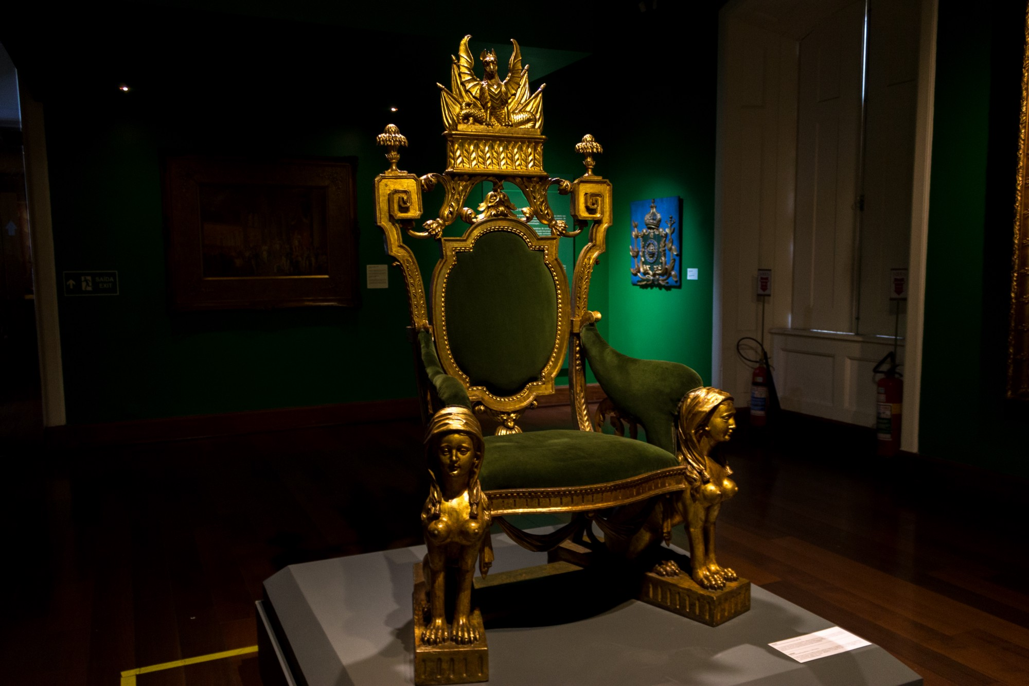 An antique throne