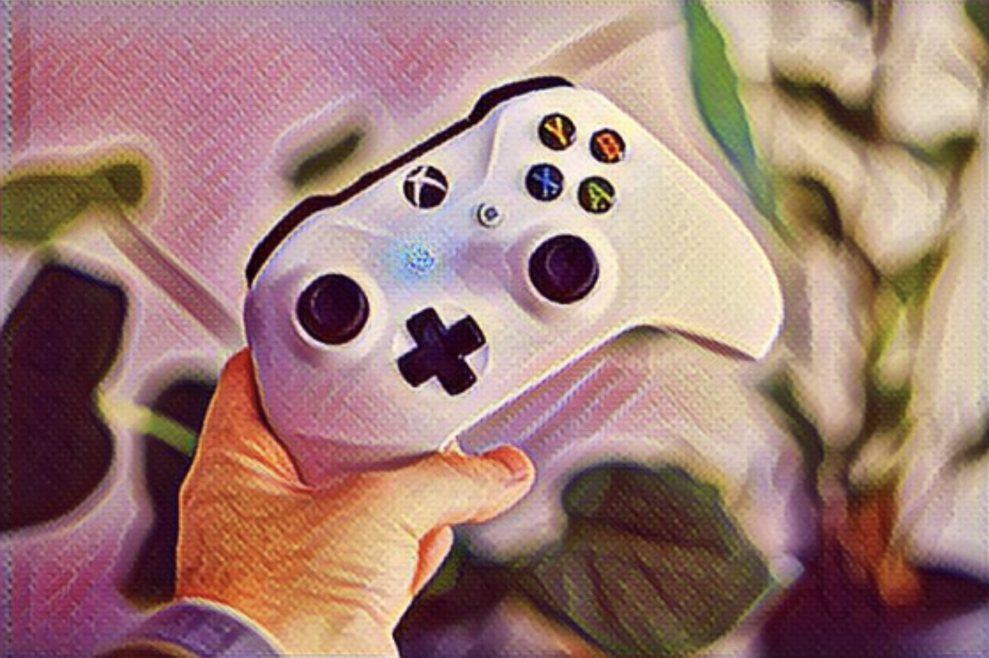 xbox controller with style transfer effect applied
