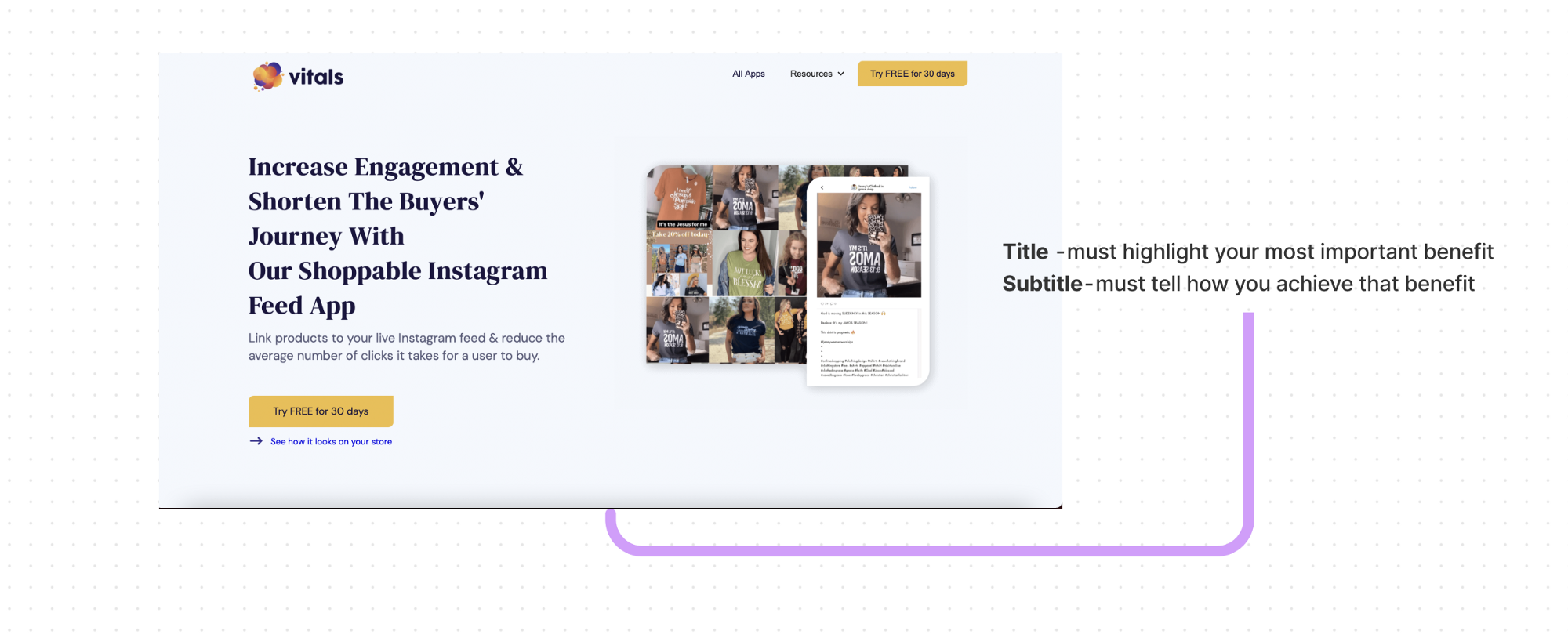 Landing page copy for Shopify app to convert more visitors.