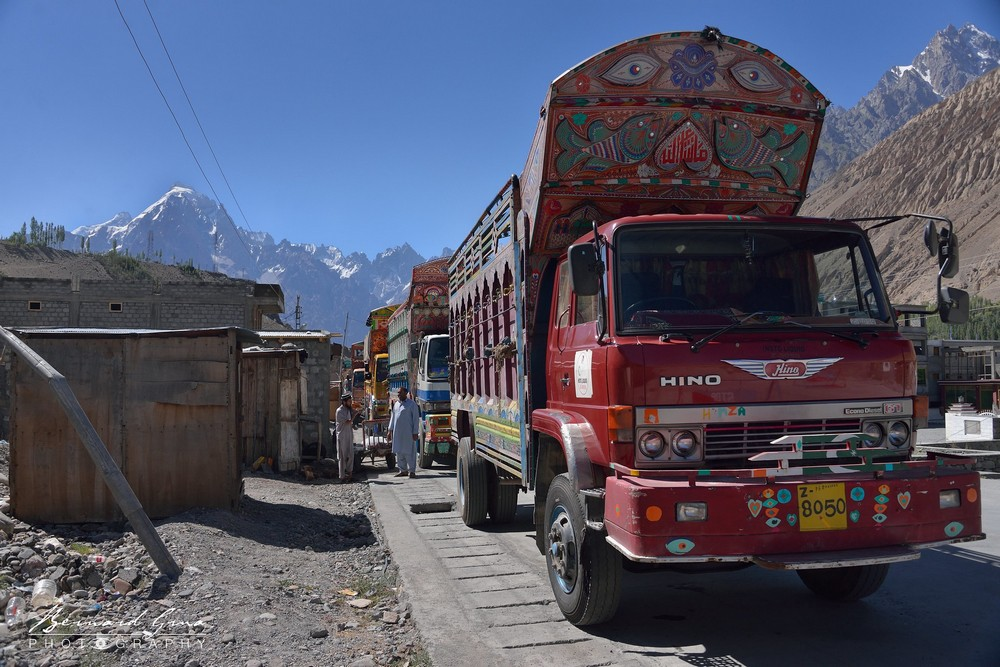 "Sost: ""main street"" on Karakoram Highway (KKH) — Photo by Bernard Grua"