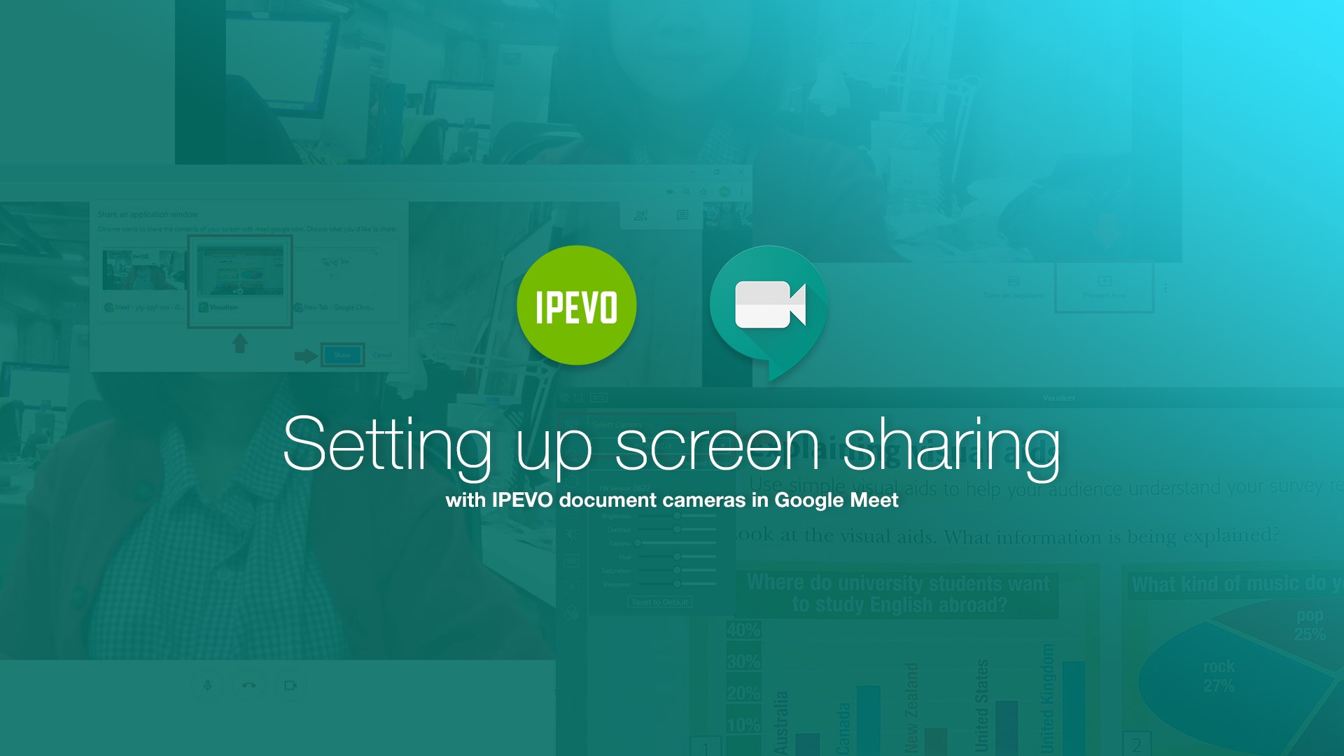 Setting up screen sharing with IPEVO document cameras in Google Meet