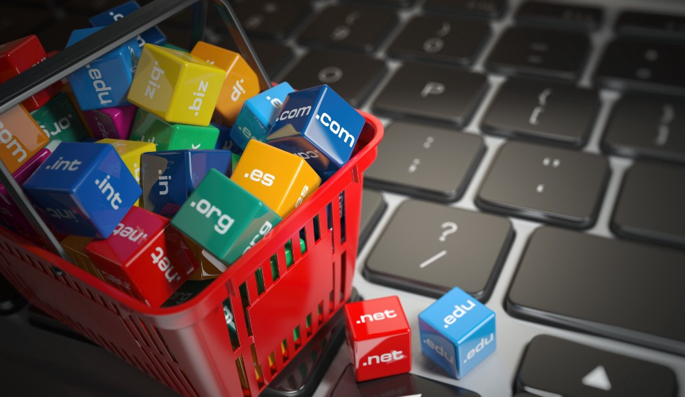 Domains in shopping cart