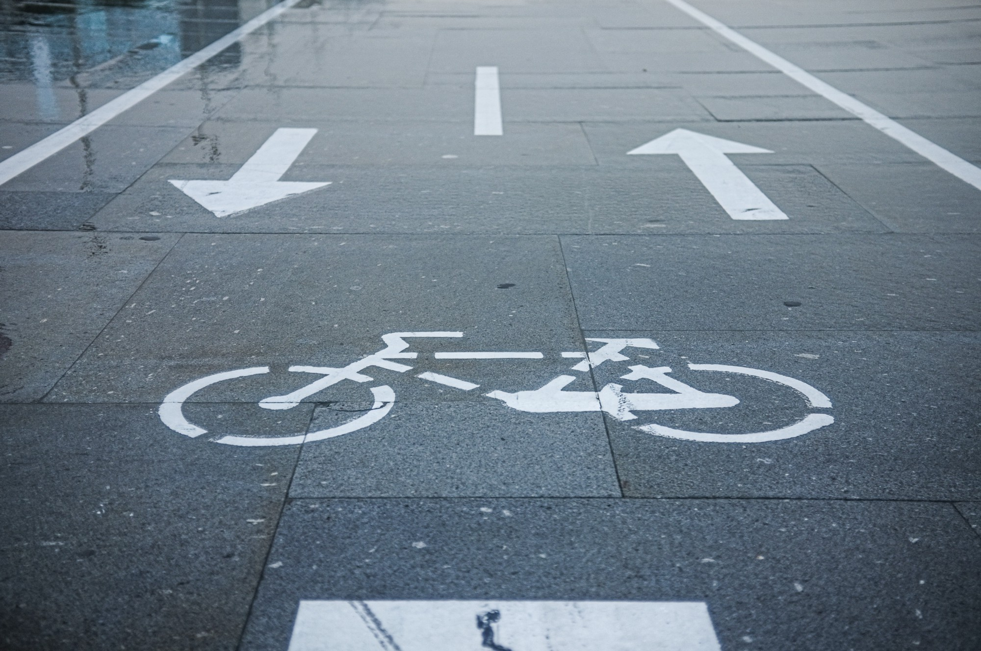 Picture of a bike lane