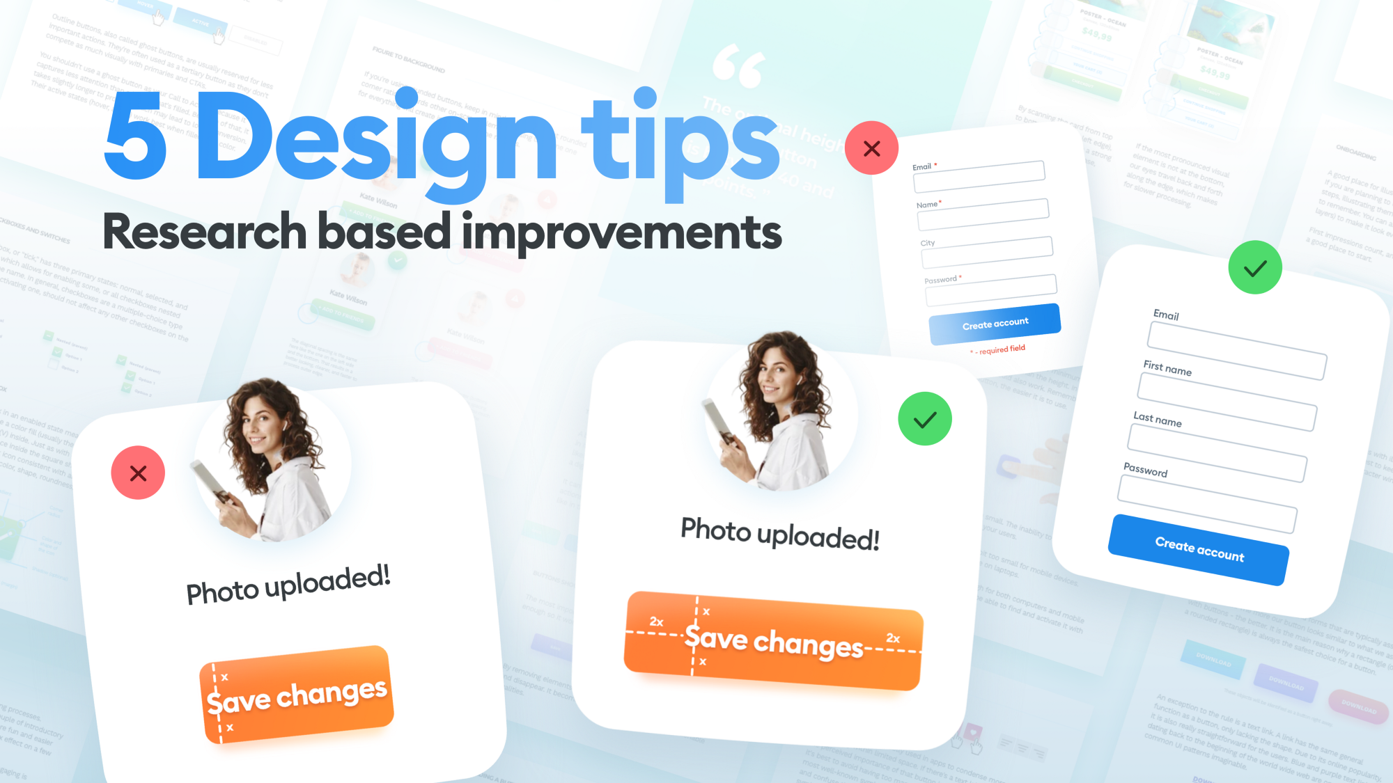 quick UX and UI Design tips