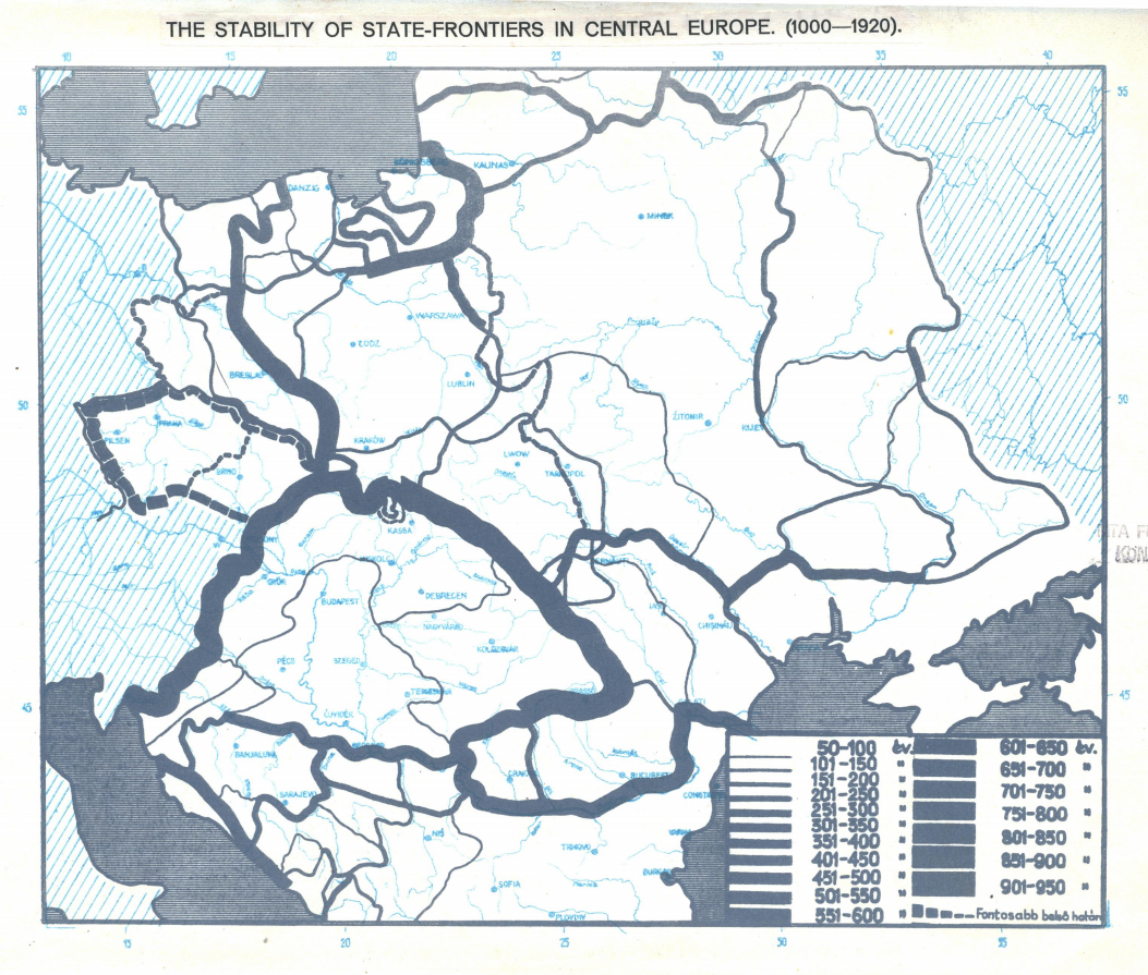 Interesting maps of Central-Europe from a book published in 1945 in on