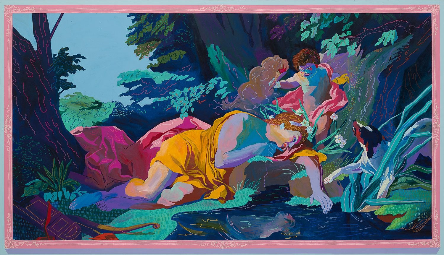 Narcissus Painting, Andy Dixon