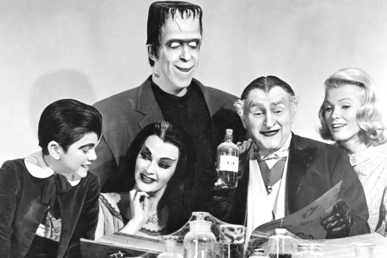 The cast of the sitcom 'The Munsters,' which ran from 1964–1966.