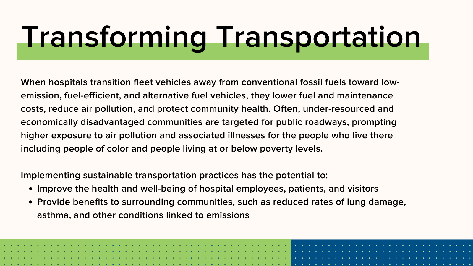 How transforming transportation can build resilience.