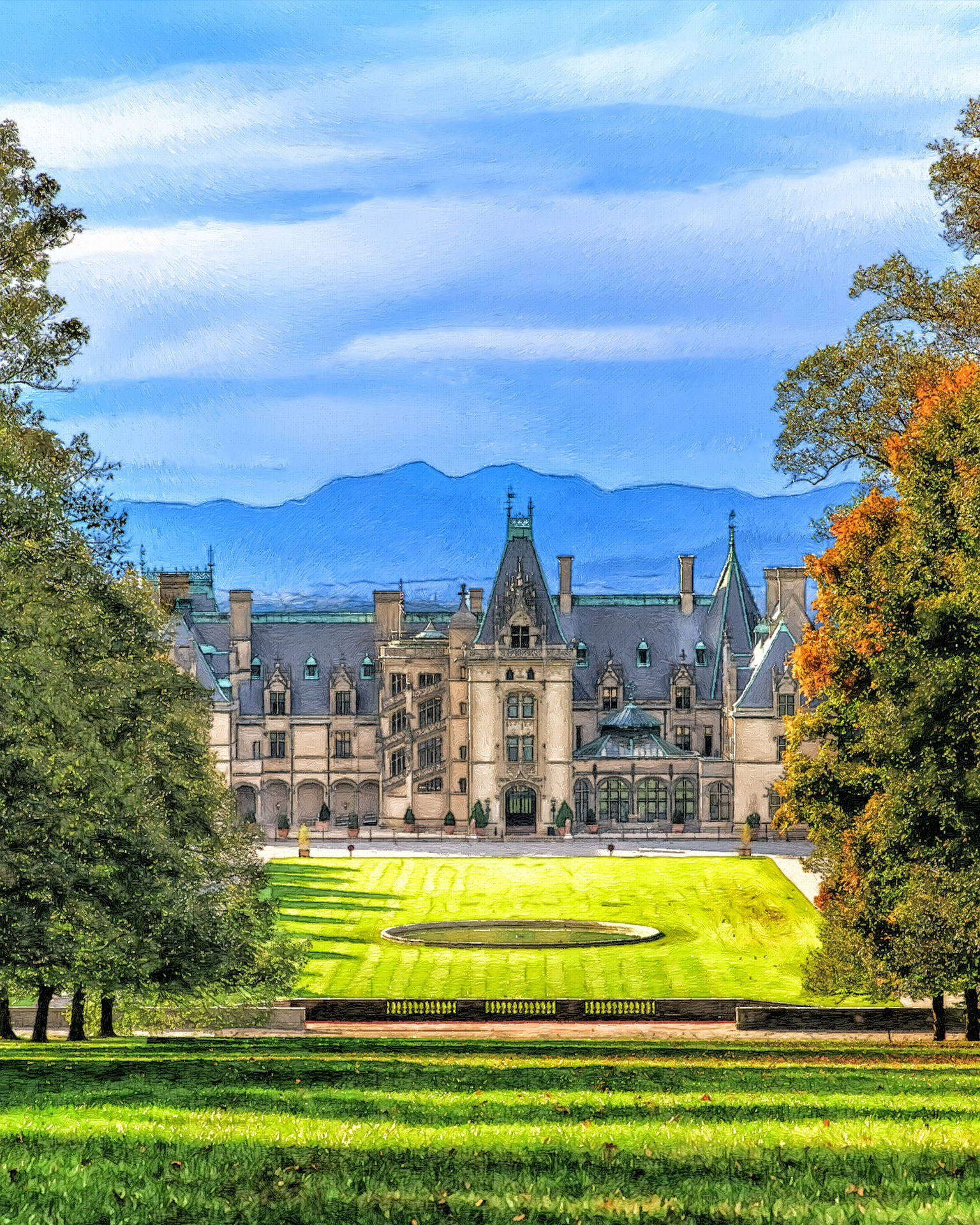 image of the Biltmore Estate in Asheville, NC