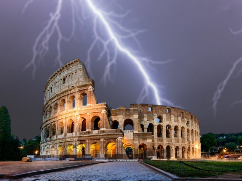 ancient rome lightning, jupiter