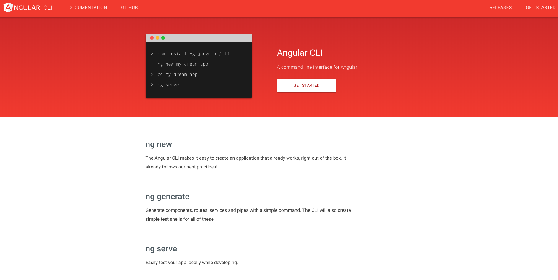 Starting an Angular App with Angular CLI in a couple of minutes