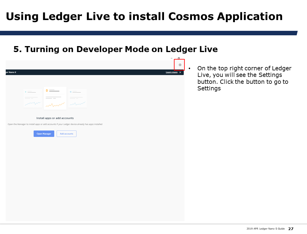 Restoring your wallet using Cosmos Seed Key with Ledger Nano S