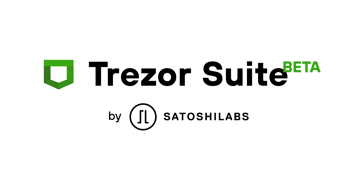 Trezor Suite, brought to you by SatoshiLabs
