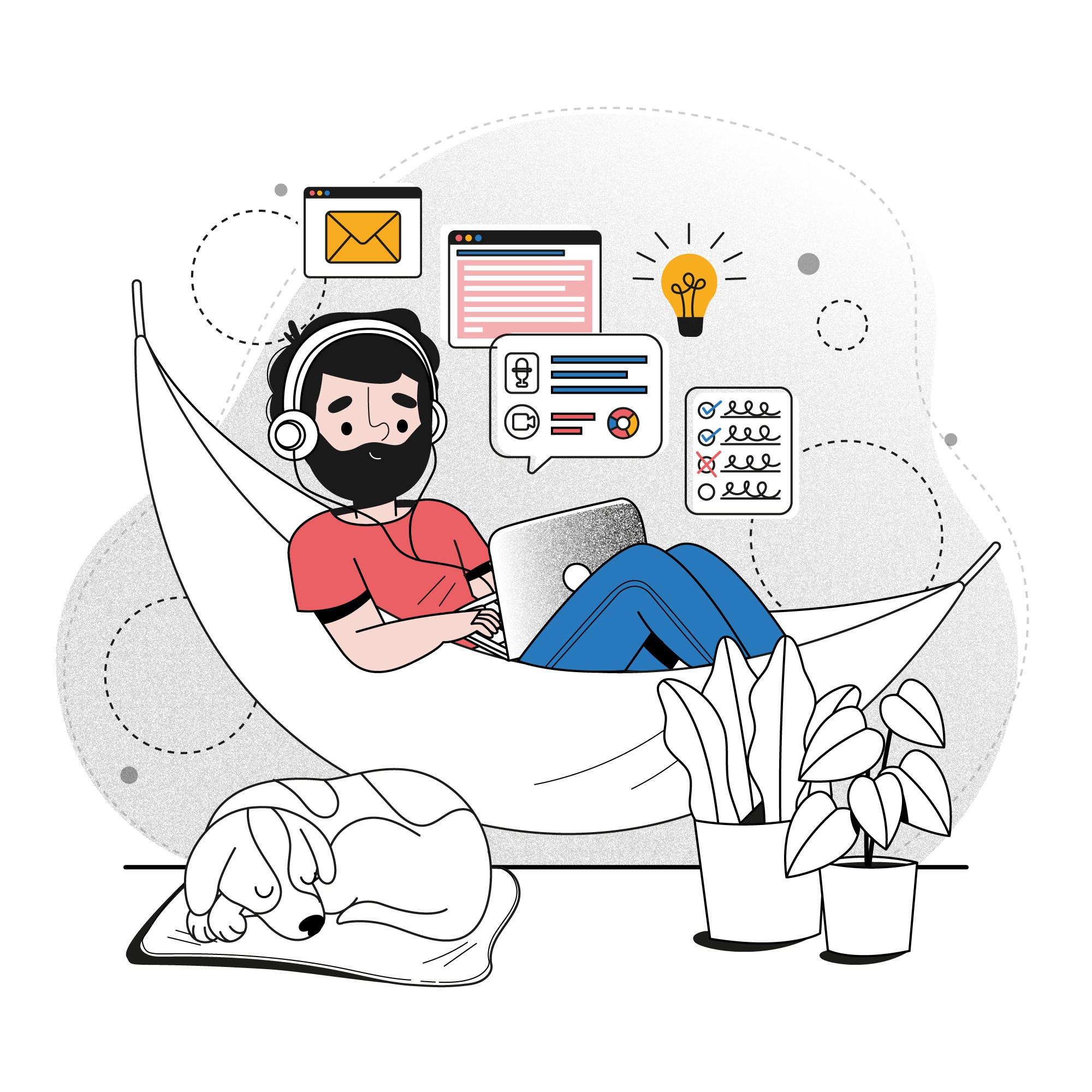 the article is about the remote work from and, cons of working from home and benefits of working from office or co-working space