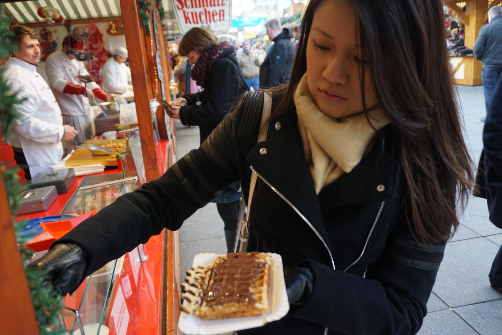 Waffle with nutella