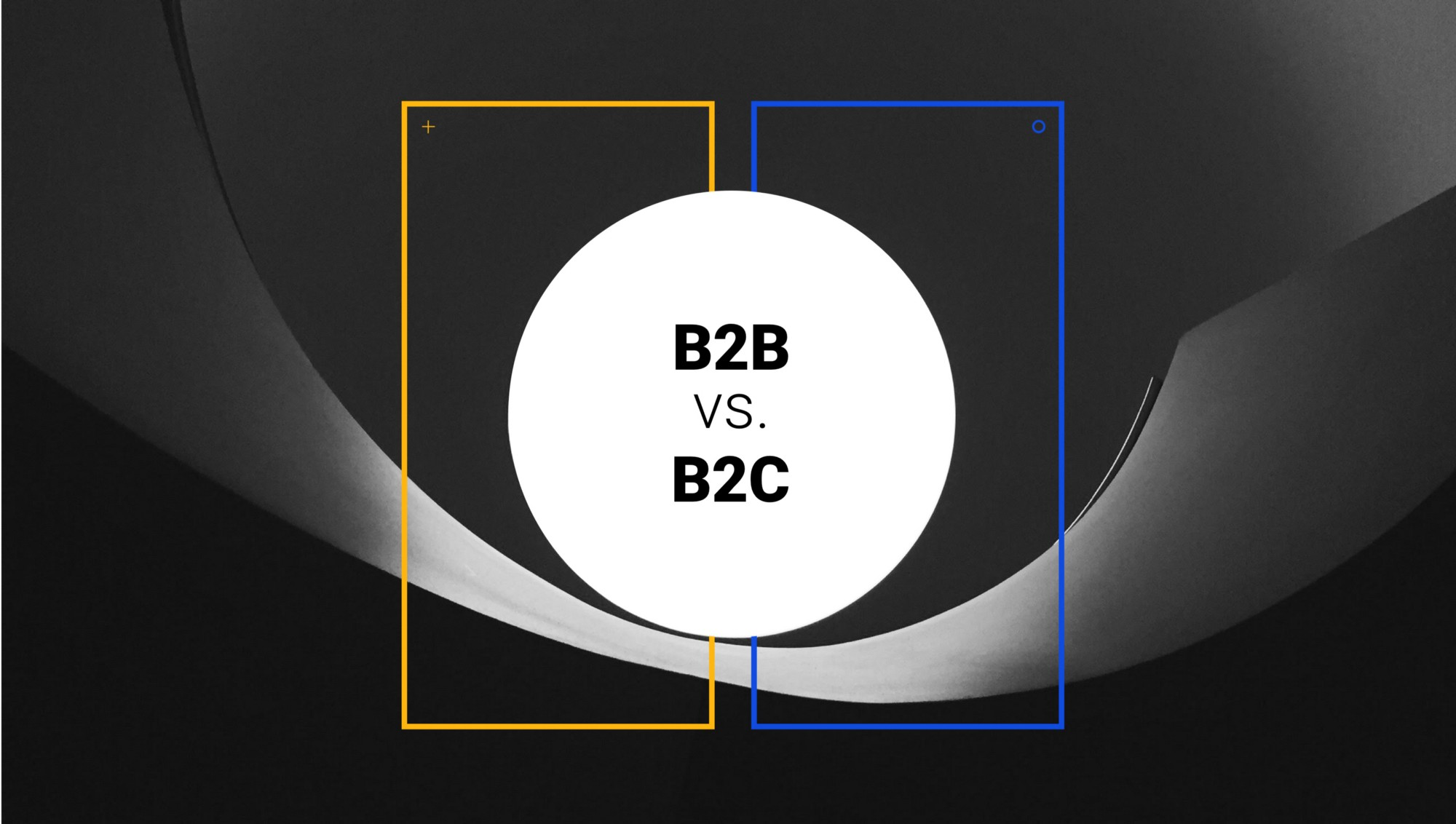 Abstract cover showing B2B against B2C design for e-commerce websites.