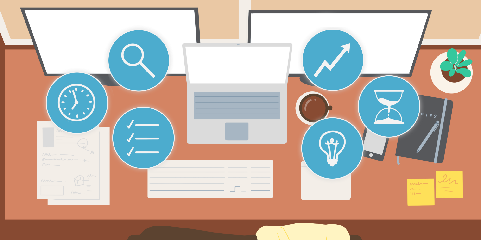 Header image for 7 Productivity Apps to Help You Survive Working From Home.