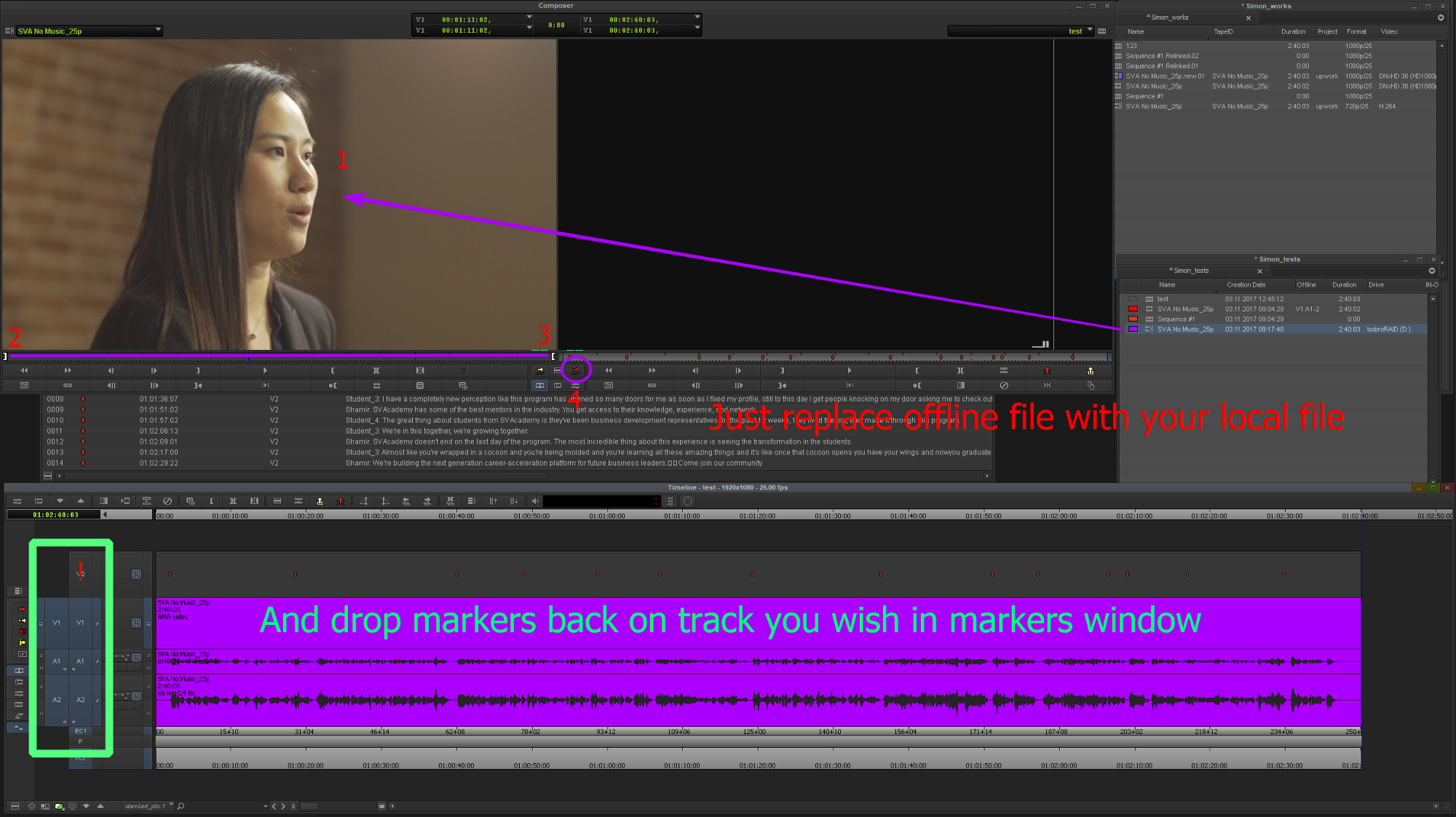 Avid Media Composer: export from Simon Says and import directly into