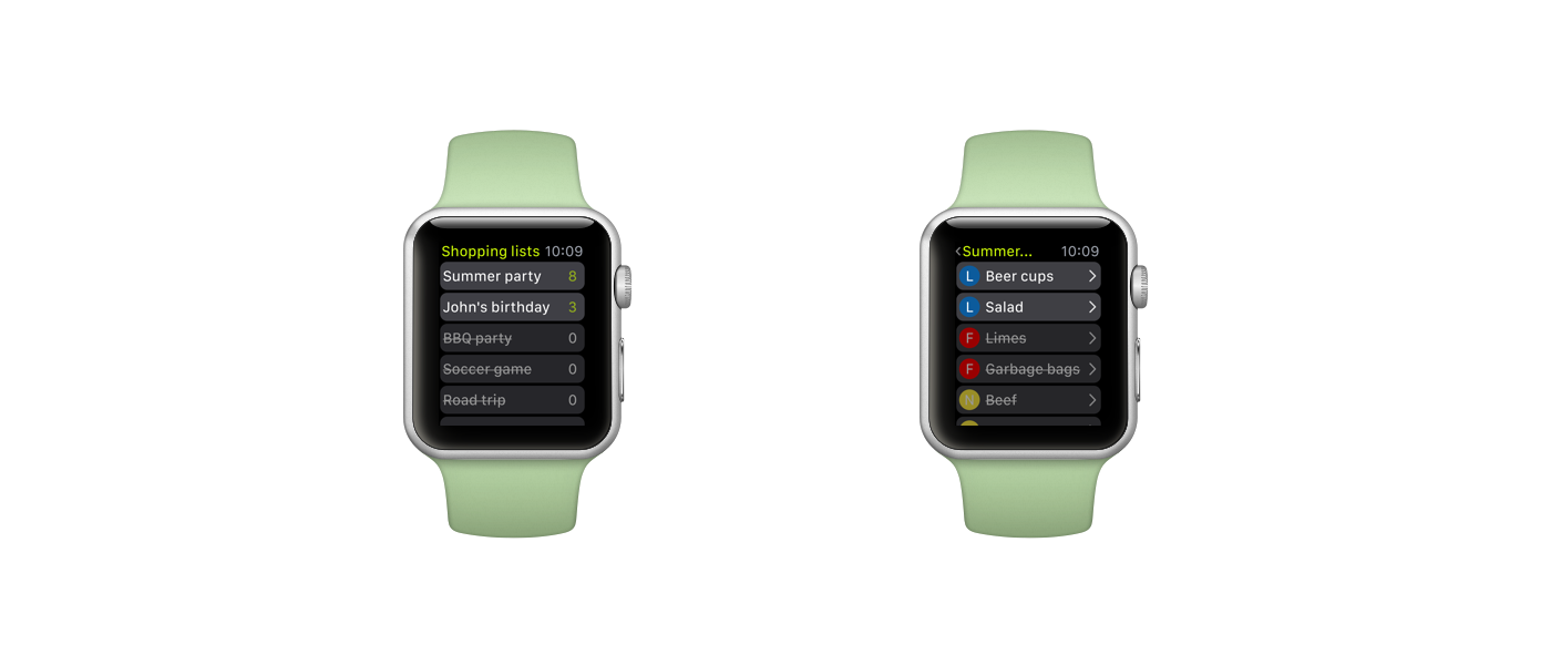 Creating an Apple Watch app concept for a grocery shopping app