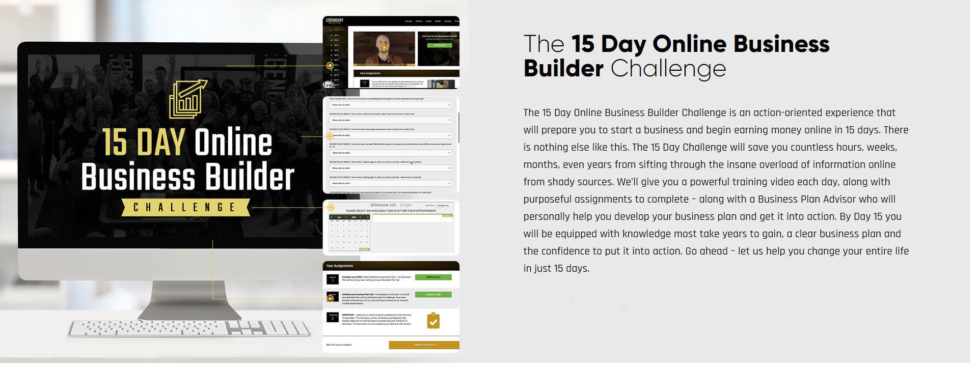 The 15-day Online Business Builder Challenge Print-screen