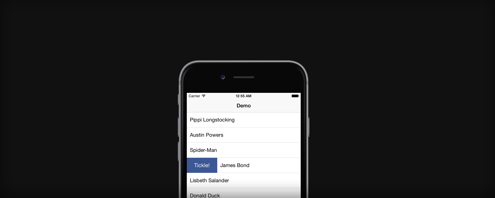 Swipeable table view cells in iOS apps