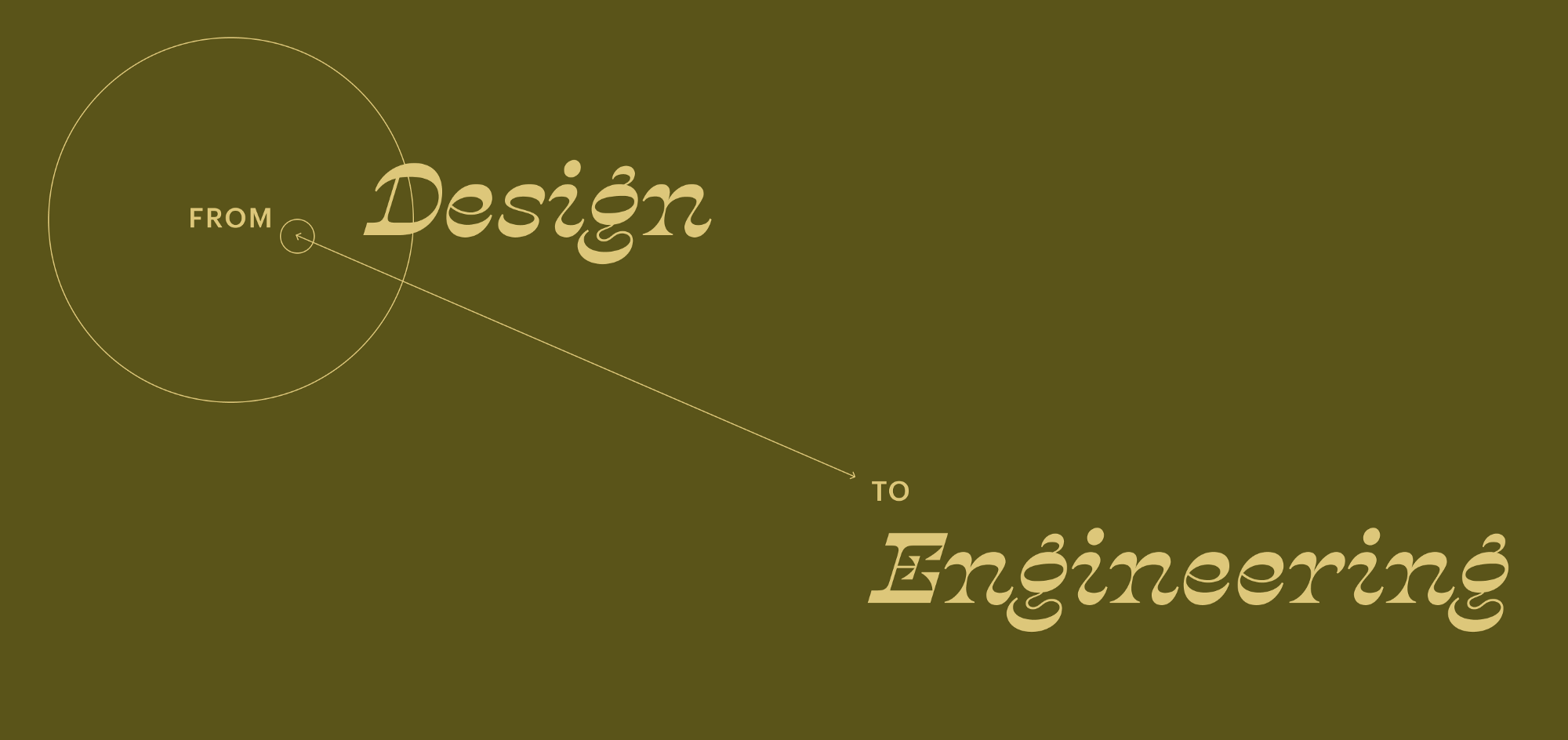 A large banner that reads from Design to Engineering