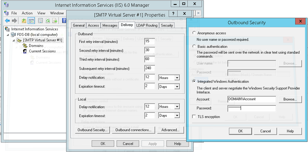 How to send emails from SSRS using a SMTP server with