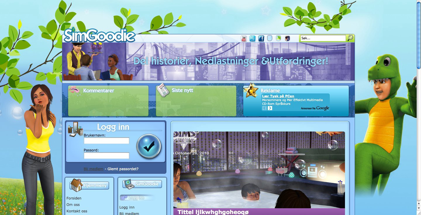 I remember I was so proud of the new design I came up with for my site about The Sims, SimGoodie.