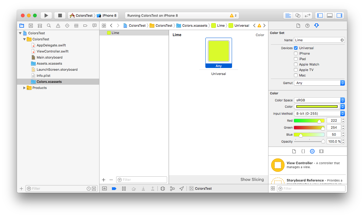 Working efficiently with colors in Xcode - Pablo Villar - Medium