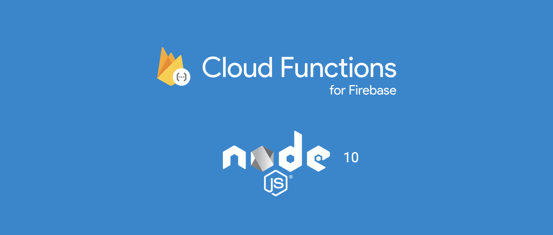 Cloud Functions for Firebase and Node.js logos