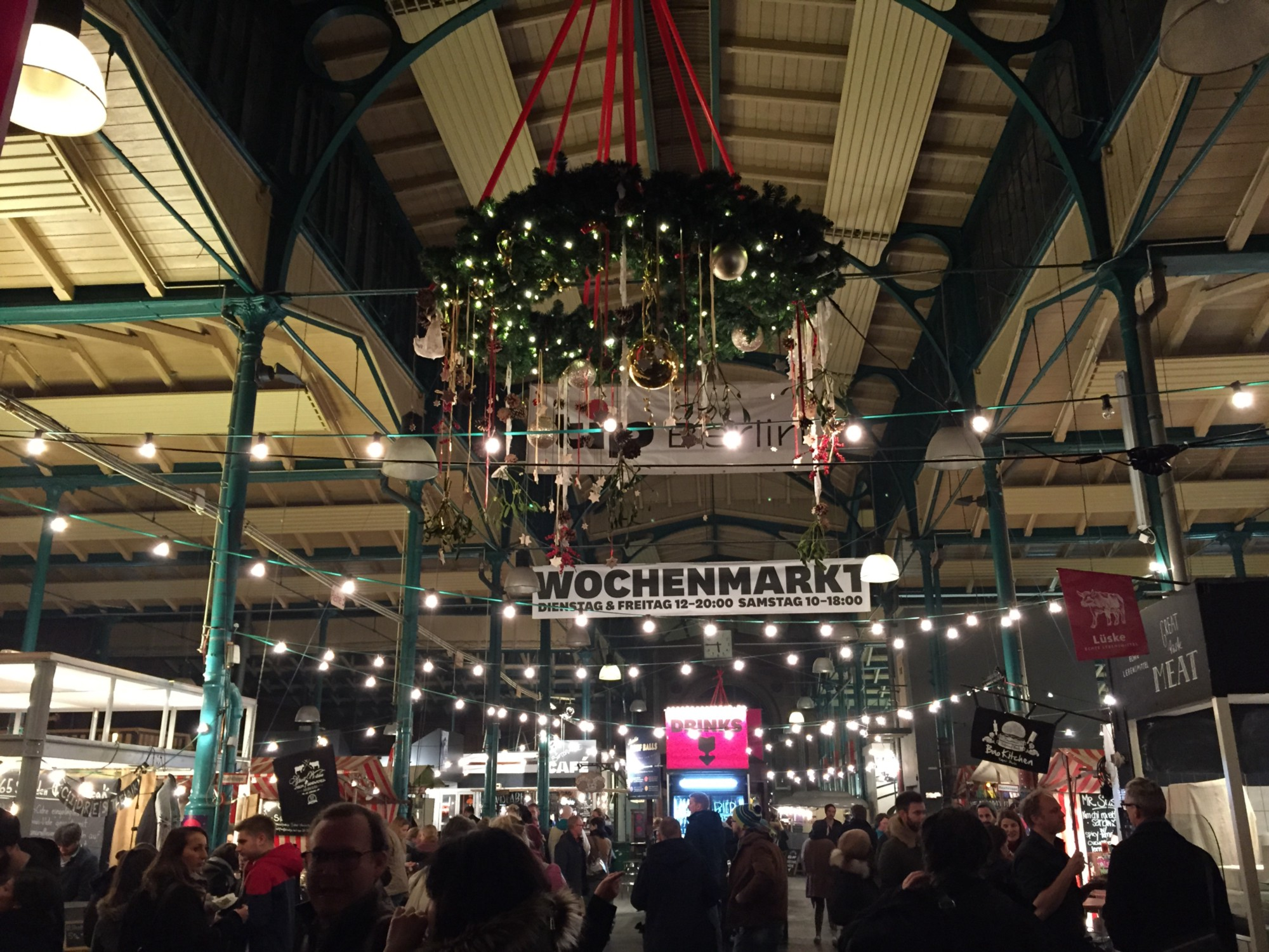 Markethalle Neun decorated in beautiful Christmas decors