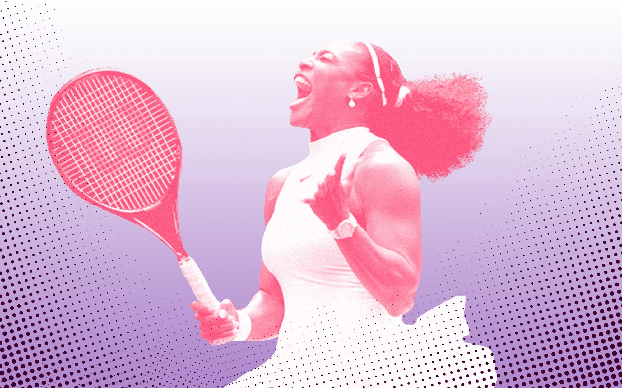 Photo illustration of Serena Williams.