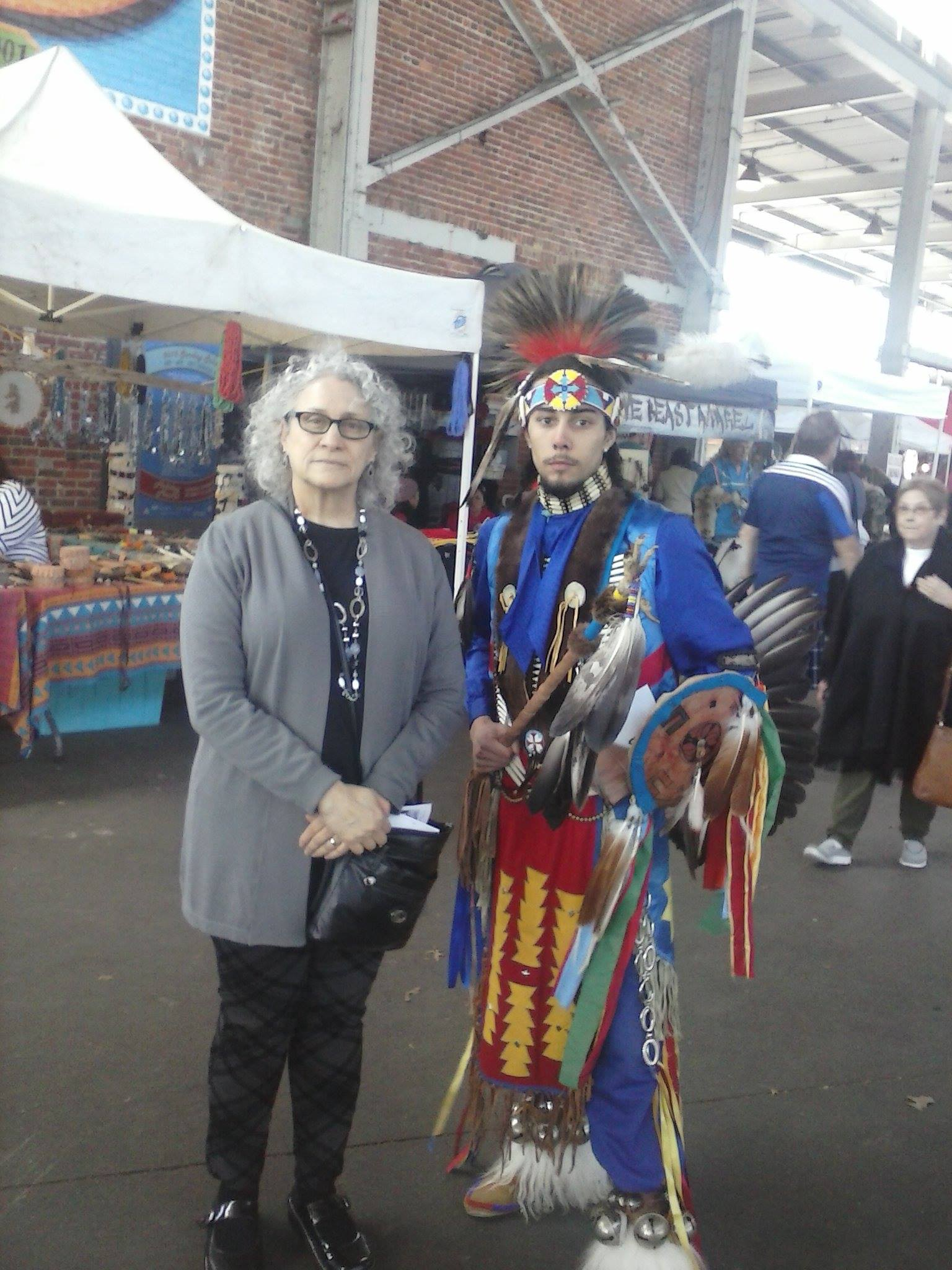 Deborah Levine and Native American colleague at Chattanooga festival
